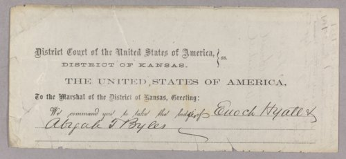 United States versus Enoch Hyatt, Abijah T. Bayles for taking Indian property - Page