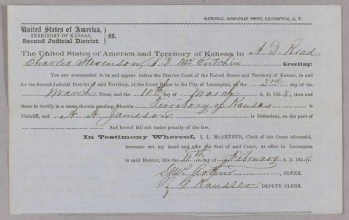 Kansas Territory versus A. A. Jamison for grand larceny - Page