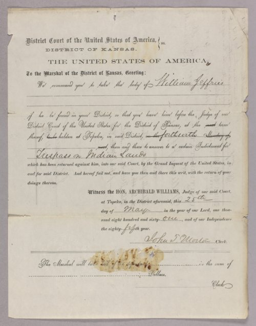 United States versus William Jeffries for taking timber off Indian land - Page