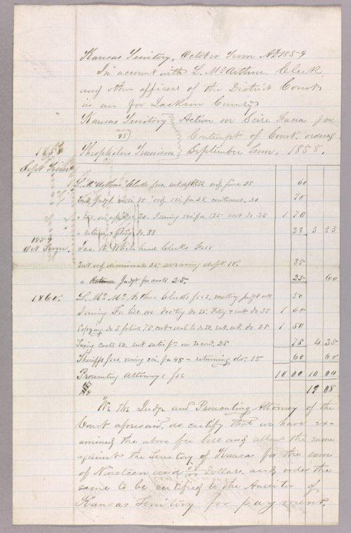 Kansas Territory versus Theophilus Jennison for contempt - Page
