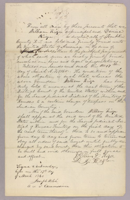 United States versus William Keizer for trespass on Indian lands - Page