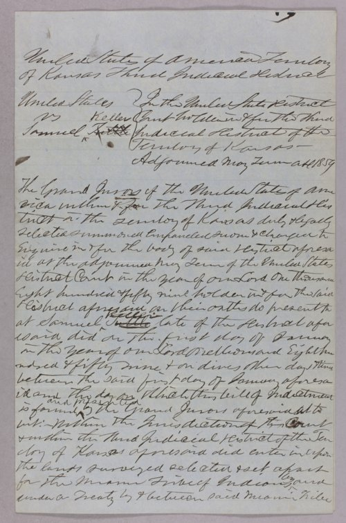 United States versus Samuel Kelley for taking Indian property - Page