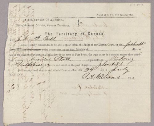 Kansas Territory versus Pinkney Killebrew for selling liquor to Indians - Page