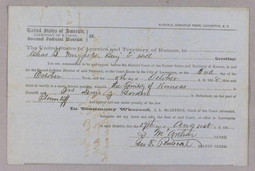 Kansas Territory versus Dr. S. Lewis, Dr. R. Jordan for grand larceny - Page