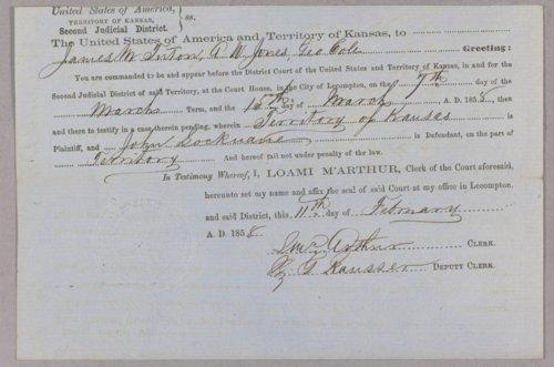 Kansas Territory versus John Lockname for gambling - Page