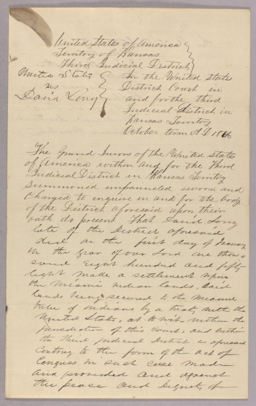 United States versus David Long for settling on Indian lands - Page