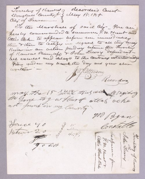 Kansas Territory versus John Lowry for assault with intent to kill - Page
