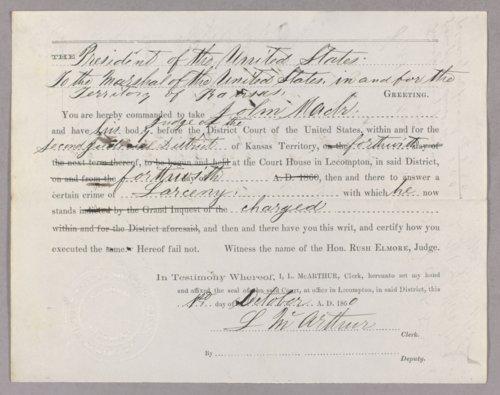United States versus John Mack for larceny - Page
