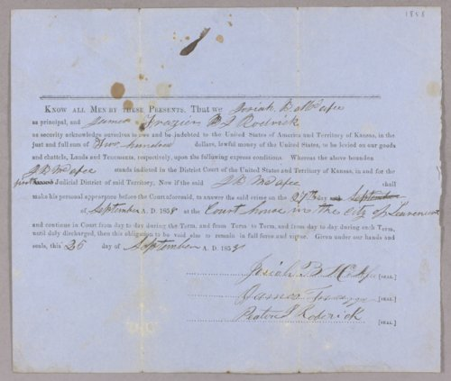 Kansas Territory versus J. B. McAfee, J. H. Hollier for assault - Page