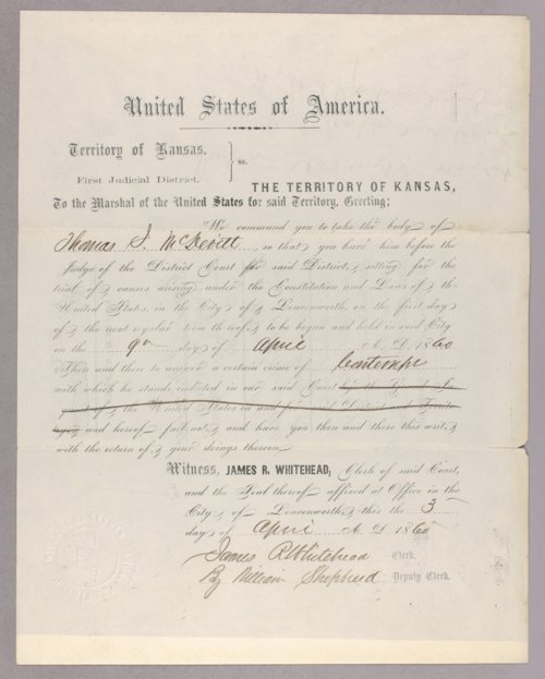 United States versus Thomas J. McDevitt for contempt - Page