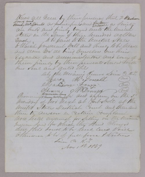 United States versus Henry McDonald for settling on Indian land - Page