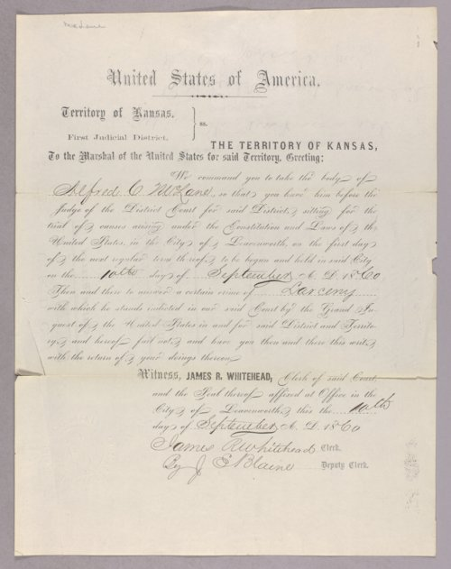 United States versus Alfred G. McLane for larceny - Page