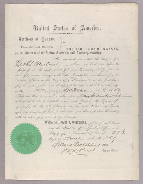 United States versus Cobb Melon for selling liquor to Indians - Page