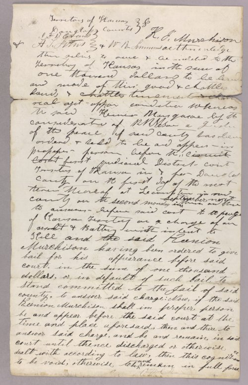 Kansas Territory versus Keenion Merchison for assault with intent to kill - Page