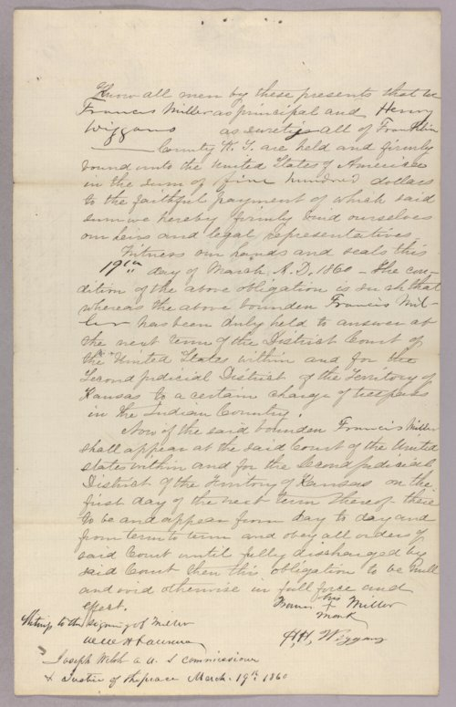 United States versus Francis Miller for trespass in Indian country - Page