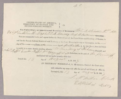 Kansas Territory versus John S. Mitchell for selling liquor on Sunday - Page
