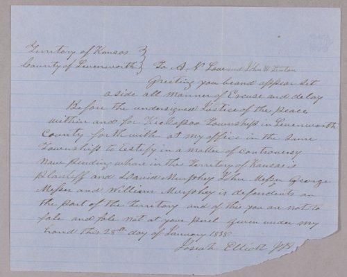Kansas Territory versus David Murphy for murder - Page