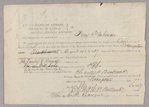 Kansas Territory versus Lawrence Murphy for selling liquor without a license - Page