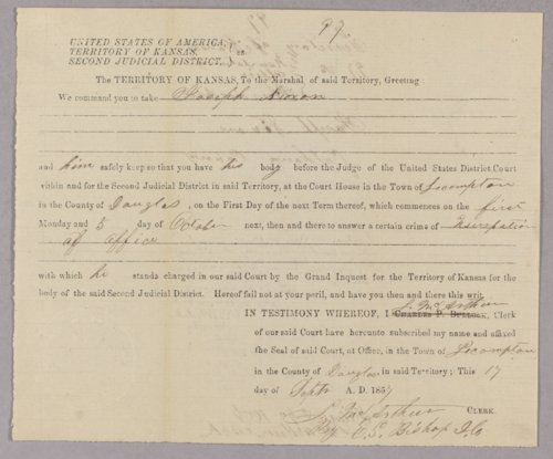 Kansas Territory versus Joseph Nixon for office usurpation - Page