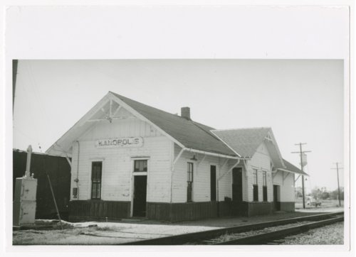 Union Pacific Railroad Company depot, Kanopolis, Kansas - Page