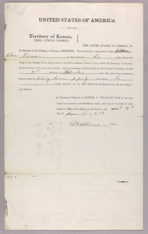 United States versus William Parmer for stealing Indian property - Page