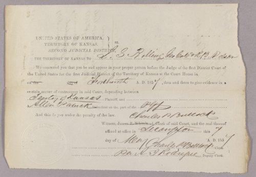 Kansas Territory versus Allen Patrick for gambling - Page