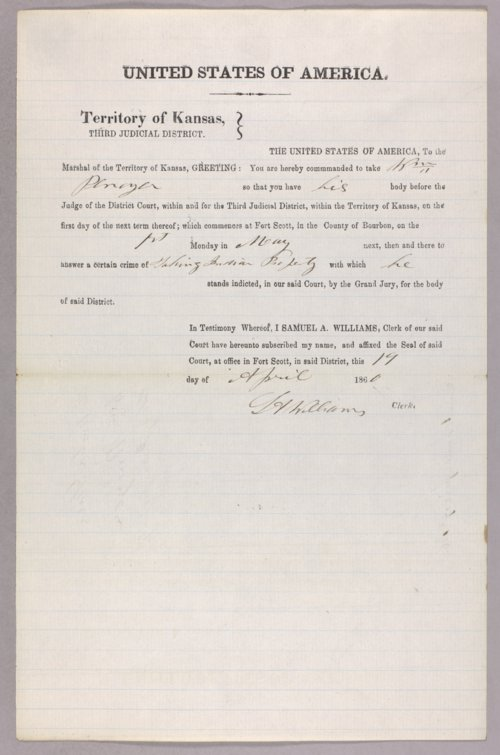 United States versus William Penoyer for taking Indian timber - Page
