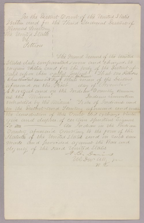 United States versus Pettross for selling liquor to Indians - Page