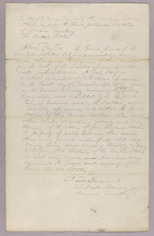 United States versus Alfred Peyton for stealing Indian timber - Page