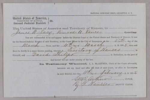 Kansas Territory versus David Philips for gambling - Page