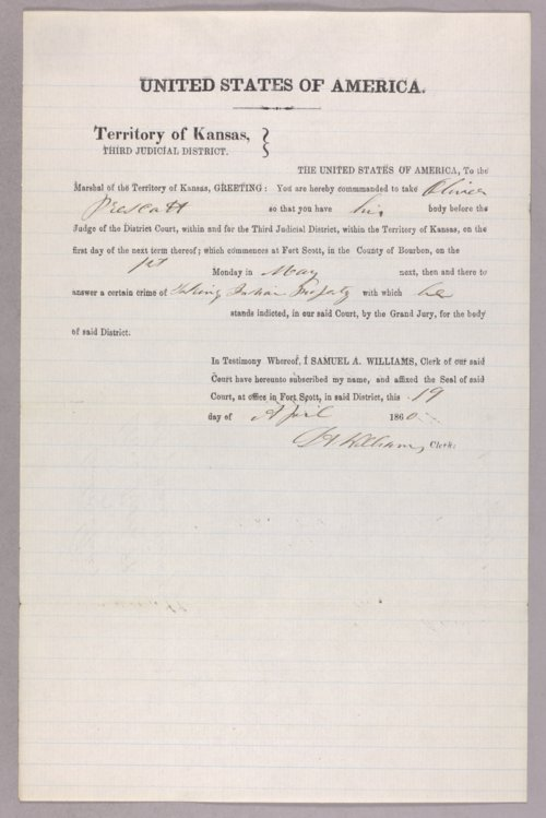 United States versus Oliver Prescott for taking Indian property - Page