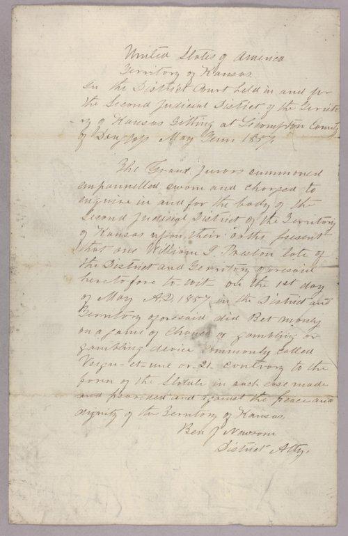 United States versus William Preston for gambling - Page