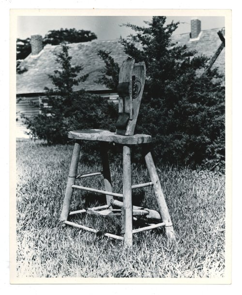 Wooden stitch horse in a yard in Butler County, Kansas - Page