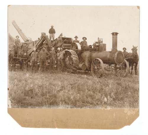 1912 threshing crew, Butler County, Kansas - Page