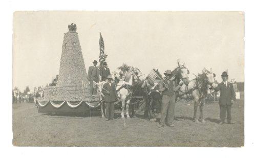 Kaffir Corn Carnival float, 1913, El Dorado, Butler County, Kansas - Page