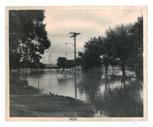 Flooded Griffith Avenue, El Dorado, Kansas - Page