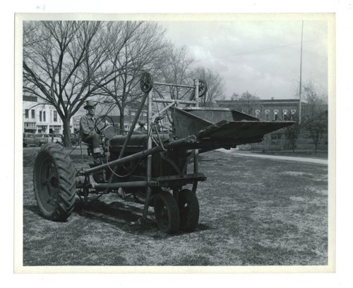 Farm implement show, tractor with front loader attachment, El Dorado, Butler County, Kansas - Page