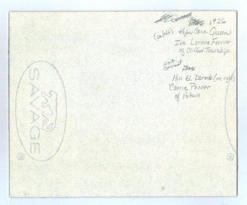 1926 Kaffir Corn queen and her court, Kaffir Corn Carnival, El Dorado, Butler County, Kansas - Page
