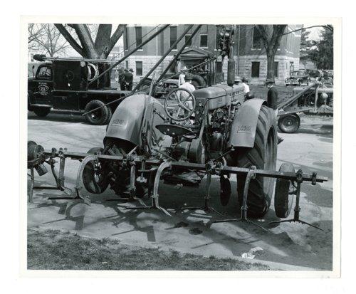 Farm implement show, tractor with harrow attachment, El Dorado, Butler County, Kansas - Page