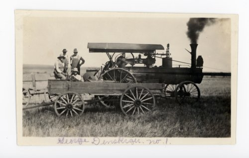Farm crew with steam tractor, Butler County, Kansas - Page