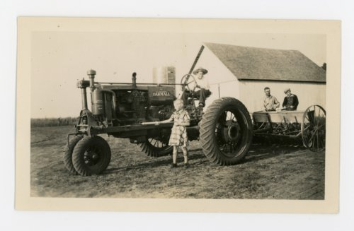 Farm children with tractor, Butler County, Kansas - Page