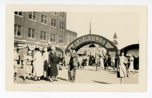 Kafirville entry arch, Kaffir Corn Carnival, El Dorado, Kansas - Page