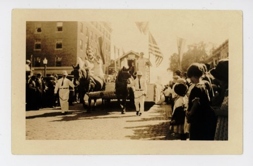Horse-drawn float, Kaffir Corn Carnival, El Dorado, Butler County, Kansas - Page