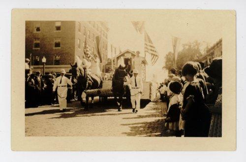 Horse-drawn float, Kaffir Corn Carnival, El Dorado, Butler County, Kansas - Page
