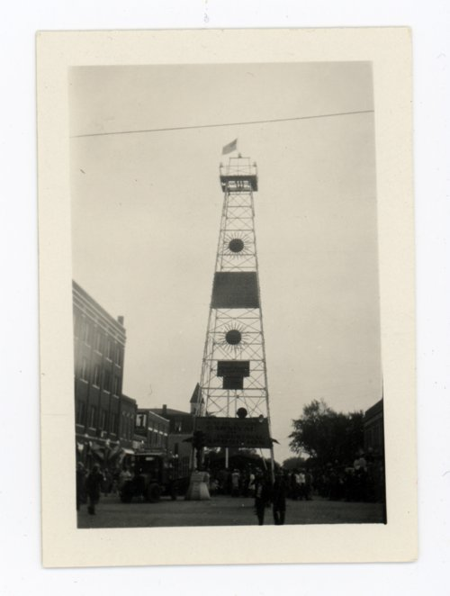 Oil derrick display, Kaffir Corn Carnival, El Dorado, Butler County, Kansas - Page