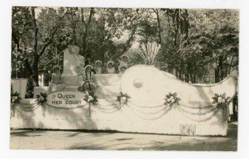1927 Kaffir Corn Queen float, El Dorado, Kansas - Page