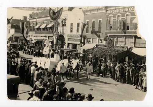 Ku Klux Klan float, Kaffir Corn Carnival parade, El Dorado, Butler County, Kansas - Page