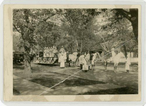 Ku Klux Klan float, Kaffir Corn Carnival parade, El Dorado, Kansas - Page