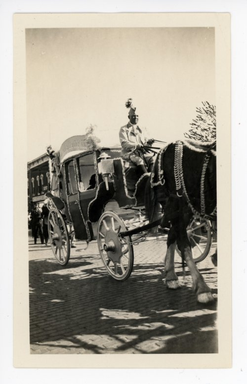 Parade stagecoach, Kaffir Corn Carnival, El Dorado, Butler County, Kansas - Page