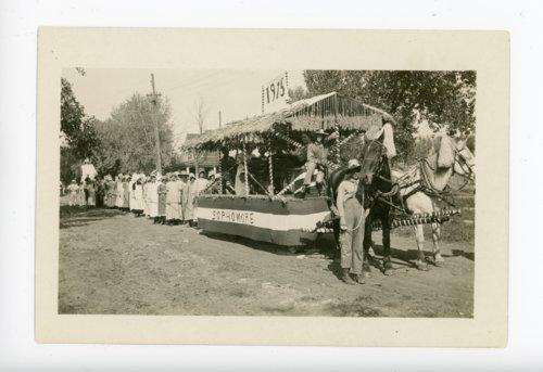 El Dorado H.S. Sophomore Float, Kaffir Corn Carnival Parade, El Dorado, Kansas - Page